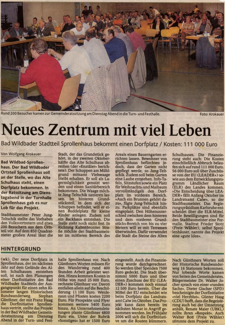 2005-09-enztaeler-sprollenhaus_bekommt_dorfplatz