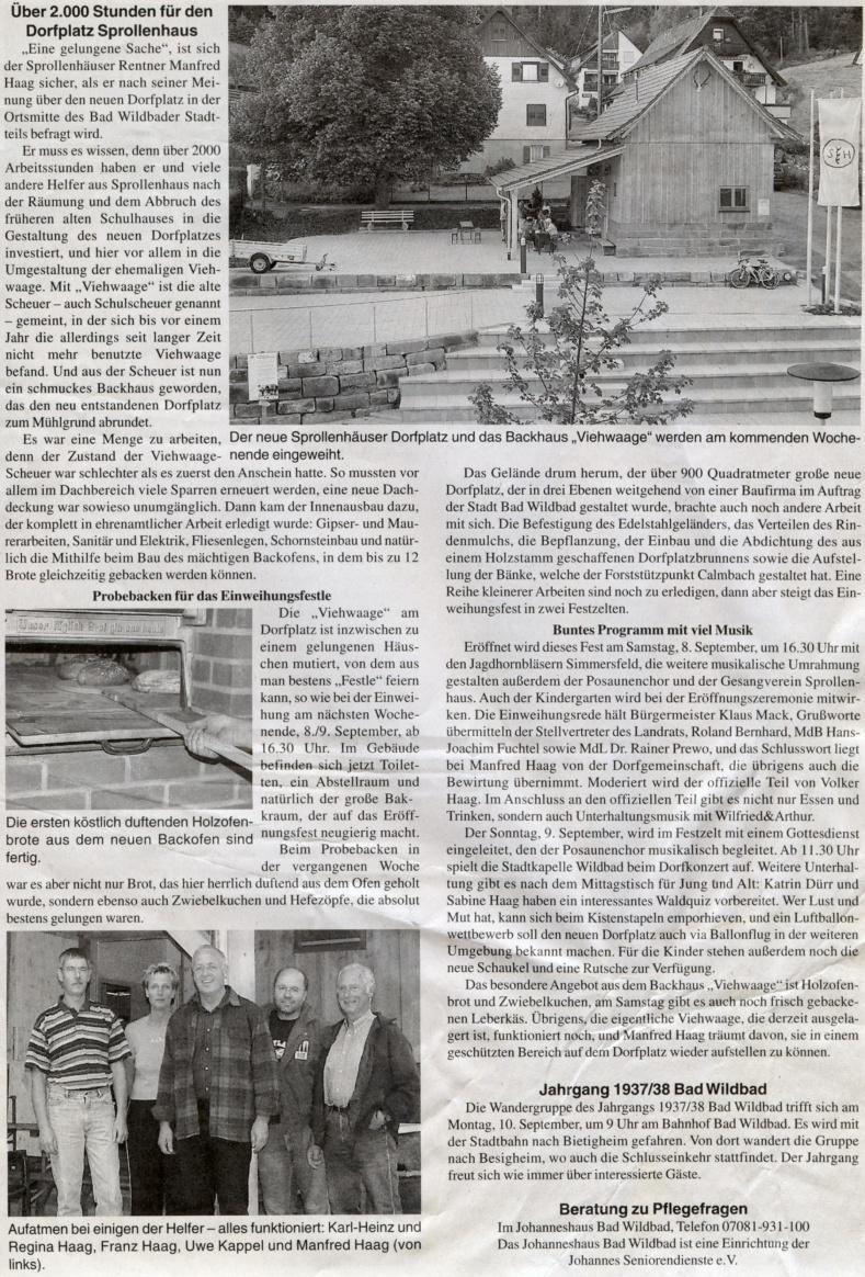 2007-09-05-wildbader_anzeigeblatt-2000_stunden_fuer_dorfplatz